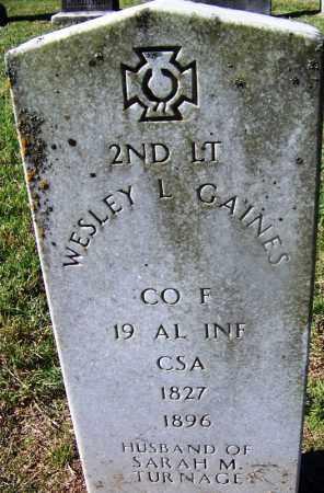 GAINES (VETERAN CSA), WESLEY L - Nevada County, Arkansas   WESLEY L GAINES (VETERAN CSA) - Arkansas Gravestone Photos