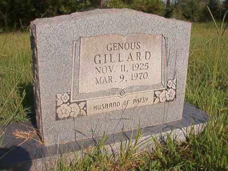 GILLARD, GENOUS - Nevada County, Arkansas | GENOUS GILLARD - Arkansas Gravestone Photos