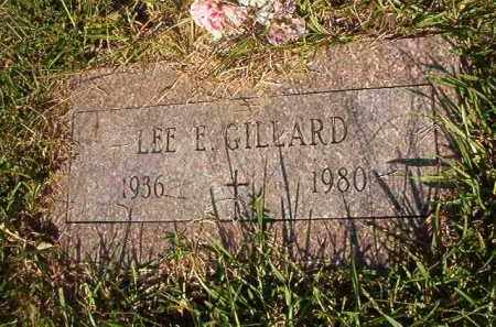 GILLARD, LEE E - Nevada County, Arkansas   LEE E GILLARD - Arkansas Gravestone Photos