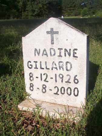 GILLARD, NADINE - Nevada County, Arkansas | NADINE GILLARD - Arkansas Gravestone Photos