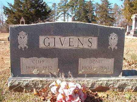 GIVENS, CLIFF - Nevada County, Arkansas | CLIFF GIVENS - Arkansas Gravestone Photos