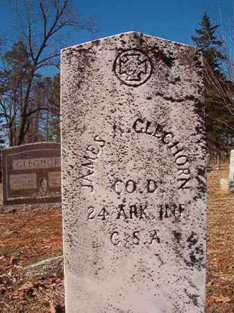 GLEGHORN (VETERAN CSA), JAMES A - Nevada County, Arkansas   JAMES A GLEGHORN (VETERAN CSA) - Arkansas Gravestone Photos