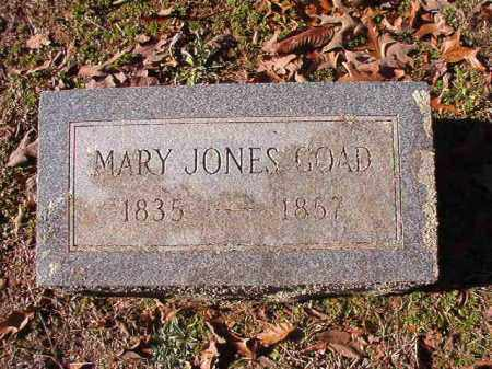 JONES GOAD, MARY - Nevada County, Arkansas | MARY JONES GOAD - Arkansas Gravestone Photos