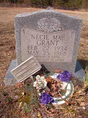 GRANT, NECIE MAE - Nevada County, Arkansas | NECIE MAE GRANT - Arkansas Gravestone Photos