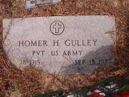 GULLEY (VETERAN), HOMER H - Nevada County, Arkansas | HOMER H GULLEY (VETERAN) - Arkansas Gravestone Photos