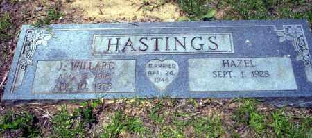 HASTINGS, J. WILLARD - Nevada County, Arkansas   J. WILLARD HASTINGS - Arkansas Gravestone Photos