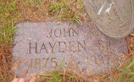 HAYDEN, SR, JOHN S - Nevada County, Arkansas   JOHN S HAYDEN, SR - Arkansas Gravestone Photos