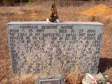 HAYNIE, FRANKLIN DEWAYNE - Nevada County, Arkansas   FRANKLIN DEWAYNE HAYNIE - Arkansas Gravestone Photos