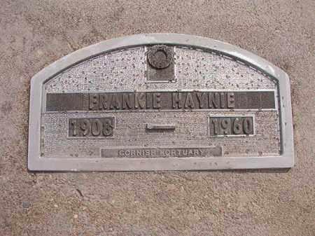 HAYNIE, FRANKIE - Nevada County, Arkansas | FRANKIE HAYNIE - Arkansas Gravestone Photos