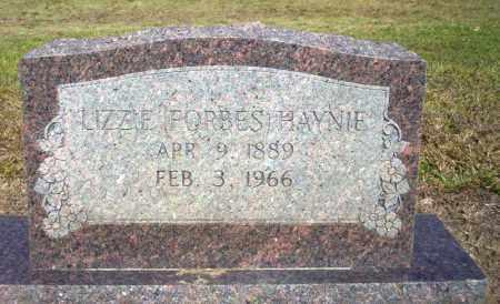 FORBES HAYNIE, LIZZIE - Nevada County, Arkansas | LIZZIE FORBES HAYNIE - Arkansas Gravestone Photos