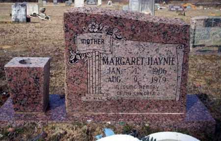 HAYNIE, MARGARET - Nevada County, Arkansas   MARGARET HAYNIE - Arkansas Gravestone Photos