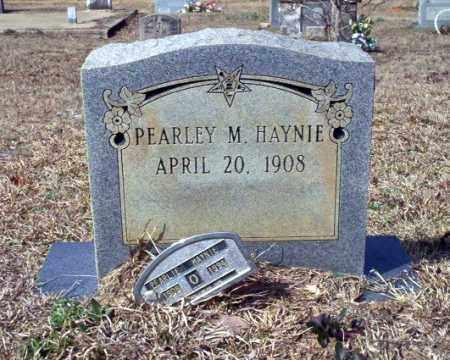 HAYNIE, PEARLEY M - Nevada County, Arkansas | PEARLEY M HAYNIE - Arkansas Gravestone Photos