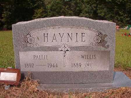 HAYNIE, PALLIE - Nevada County, Arkansas | PALLIE HAYNIE - Arkansas Gravestone Photos
