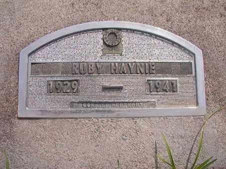 HAYNIE, RUBY - Nevada County, Arkansas   RUBY HAYNIE - Arkansas Gravestone Photos