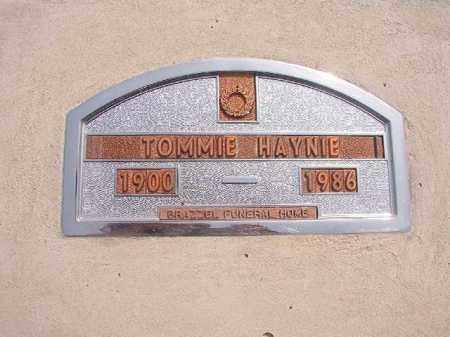 HAYNIE, TOMMIE - Nevada County, Arkansas | TOMMIE HAYNIE - Arkansas Gravestone Photos