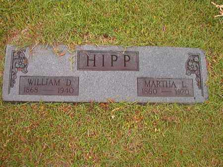HIPP, WILLIAM D - Nevada County, Arkansas | WILLIAM D HIPP - Arkansas Gravestone Photos