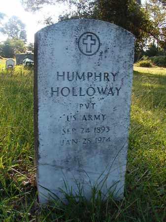 HOLLOWAY (VETERAN), HUMPHRY - Nevada County, Arkansas | HUMPHRY HOLLOWAY (VETERAN) - Arkansas Gravestone Photos