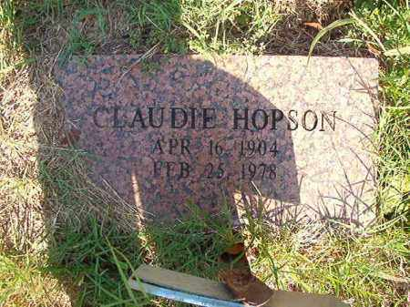 HOPSON, CLAUDIE - Nevada County, Arkansas | CLAUDIE HOPSON - Arkansas Gravestone Photos
