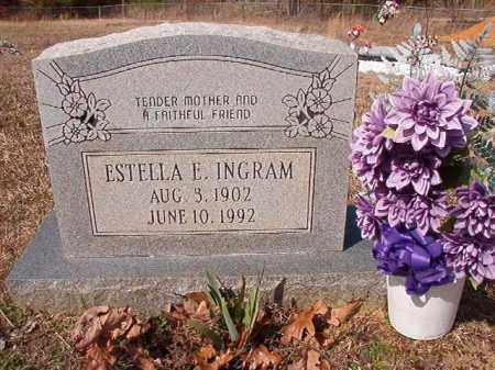 INGRAM, ESTELLA E - Nevada County, Arkansas   ESTELLA E INGRAM - Arkansas Gravestone Photos