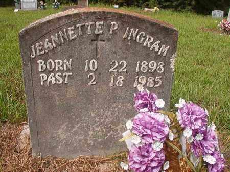 INGRAM, JEANNETTE P - Nevada County, Arkansas   JEANNETTE P INGRAM - Arkansas Gravestone Photos