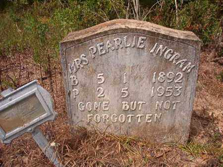 INGRAM, PEARLIE - Nevada County, Arkansas | PEARLIE INGRAM - Arkansas Gravestone Photos