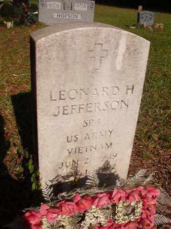 JEFFERSON (VETERAN VIET), LEONARD H - Nevada County, Arkansas | LEONARD H JEFFERSON (VETERAN VIET) - Arkansas Gravestone Photos