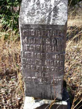 JOHNSON, FLORENCE - Nevada County, Arkansas   FLORENCE JOHNSON - Arkansas Gravestone Photos