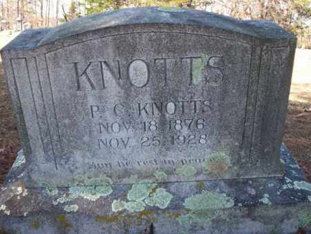 KNOTTS, P.C. - Nevada County, Arkansas | P.C. KNOTTS - Arkansas Gravestone Photos