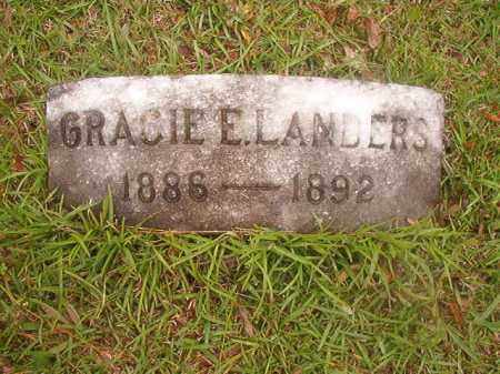 LANDERS, GRACIE E - Nevada County, Arkansas   GRACIE E LANDERS - Arkansas Gravestone Photos
