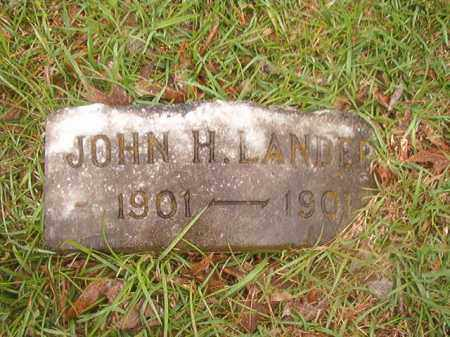 LANDERS, JOHN H - Nevada County, Arkansas | JOHN H LANDERS - Arkansas Gravestone Photos