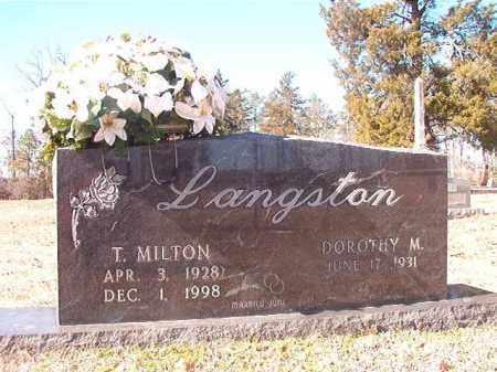 LANGSTON, T MILTON - Nevada County, Arkansas   T MILTON LANGSTON - Arkansas Gravestone Photos