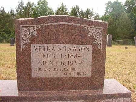 LAWSON, VERNA A - Nevada County, Arkansas | VERNA A LAWSON - Arkansas Gravestone Photos