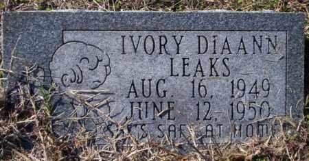 LEAKS, IVORY DIAANN - Nevada County, Arkansas | IVORY DIAANN LEAKS - Arkansas Gravestone Photos