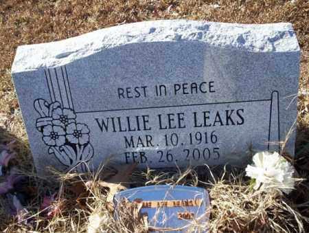 LEAKS, WILLIE LEE - Nevada County, Arkansas | WILLIE LEE LEAKS - Arkansas Gravestone Photos