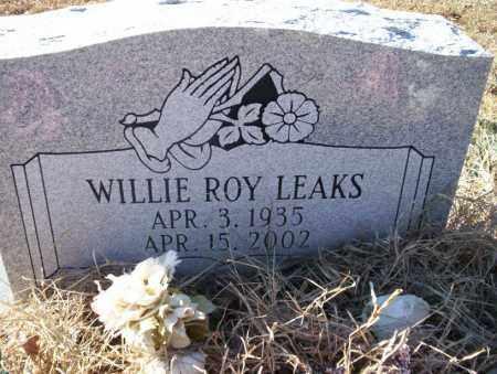 LEAKS, WILLIE ROY - Nevada County, Arkansas | WILLIE ROY LEAKS - Arkansas Gravestone Photos