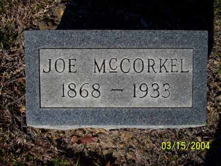 MCCORKEL, JOE - Nevada County, Arkansas   JOE MCCORKEL - Arkansas Gravestone Photos