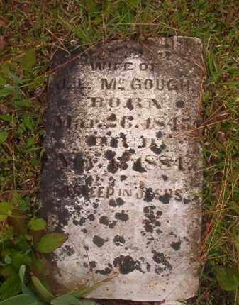 MCGOUGH, ELIZABETH - Nevada County, Arkansas   ELIZABETH MCGOUGH - Arkansas Gravestone Photos