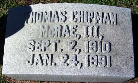 MCRAE, III, THOMAS CHIPMAN - Nevada County, Arkansas | THOMAS CHIPMAN MCRAE, III - Arkansas Gravestone Photos