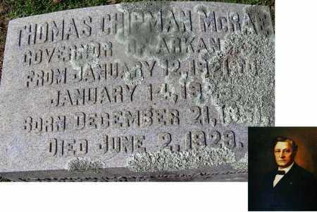 MCRAE (FAMOUS), THOMAS CHIPMAN (BIO) - Nevada County, Arkansas | THOMAS CHIPMAN (BIO) MCRAE (FAMOUS) - Arkansas Gravestone Photos