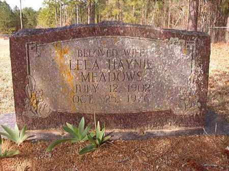 MEADOWS, LELA - Nevada County, Arkansas | LELA MEADOWS - Arkansas Gravestone Photos