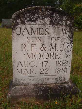 MOORE, JAMES W - Nevada County, Arkansas | JAMES W MOORE - Arkansas Gravestone Photos