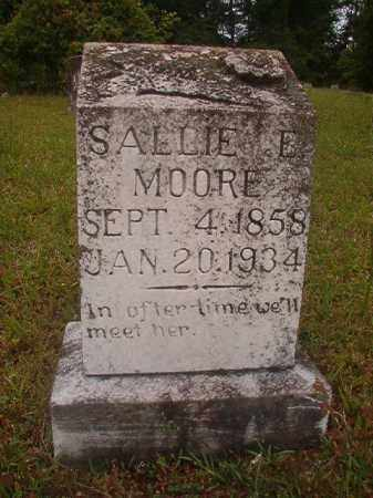 MOORE, SALLIE E - Nevada County, Arkansas | SALLIE E MOORE - Arkansas Gravestone Photos