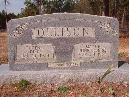 OLLISON, MATTIE - Nevada County, Arkansas | MATTIE OLLISON - Arkansas Gravestone Photos