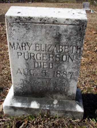 PURGERSON, MARY ELIZABETH - Nevada County, Arkansas   MARY ELIZABETH PURGERSON - Arkansas Gravestone Photos