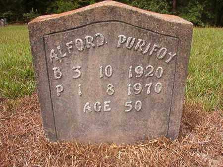 PURIFOY, ALFORD - Nevada County, Arkansas   ALFORD PURIFOY - Arkansas Gravestone Photos