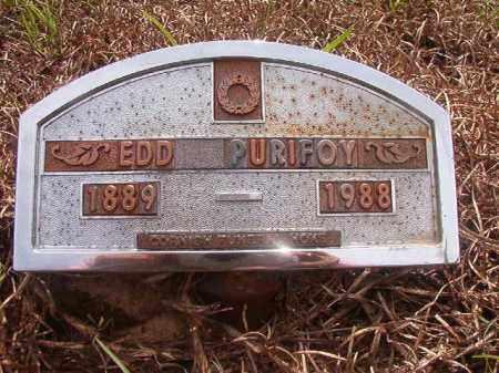 PURIFOY, EDD - Nevada County, Arkansas | EDD PURIFOY - Arkansas Gravestone Photos