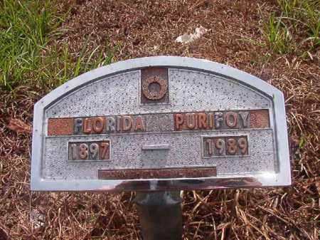 PURIFOY, FLORIDA - Nevada County, Arkansas | FLORIDA PURIFOY - Arkansas Gravestone Photos