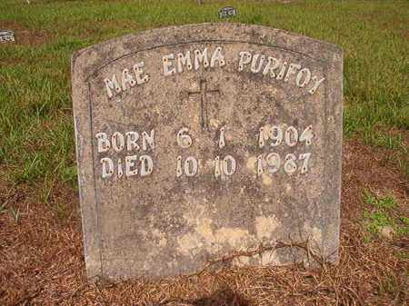 PURIFOY, MAE EMMA - Nevada County, Arkansas | MAE EMMA PURIFOY - Arkansas Gravestone Photos