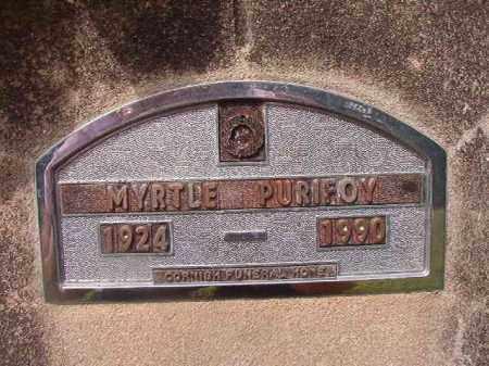 PURIFOY, MYRTLE - Nevada County, Arkansas   MYRTLE PURIFOY - Arkansas Gravestone Photos