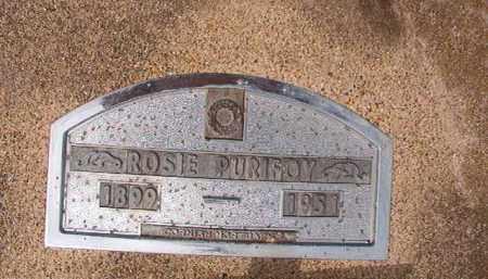 PURIFOY, ROSIE - Nevada County, Arkansas   ROSIE PURIFOY - Arkansas Gravestone Photos